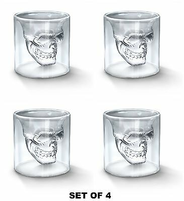 Crystal Head Skull Shot Glasses Doomed Shotglass Cup Drinking Vodka Whiskey Home