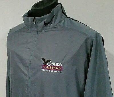 Nike Golf Mens Golf Wind Jacket Stretch Oneida Casino Wisconsin LS Sz XL NWT