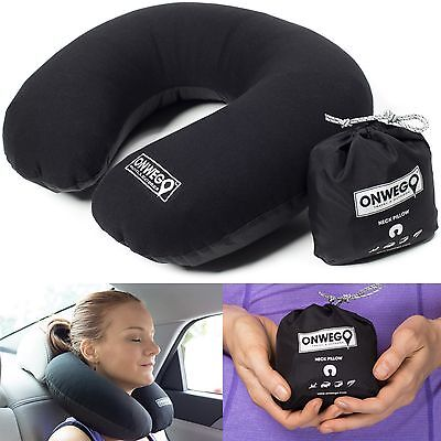 Inflatable U-Shape Neck Pillow Air Travel - Ultralight, Compact, Portable, Small