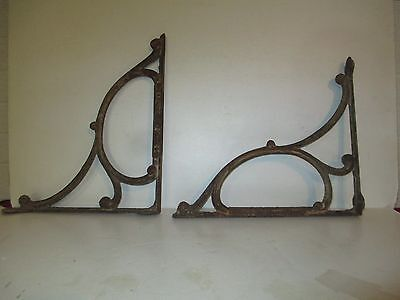 Vintage architectural,  cast iron sink brackets 100 years old