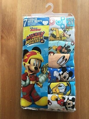 Mickey & The Roadster Racers Boys Toddler Brief Underwear Size 4T