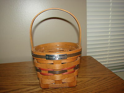 INAUGURAL Collection Basket FIRST IN SERIES 1989 Longaberger With Protector