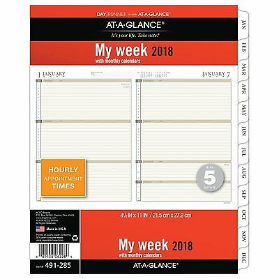 AT-A-GLANCE Day Runner Weekly Planner Refill, January 2018 -December 2018,Size 5
