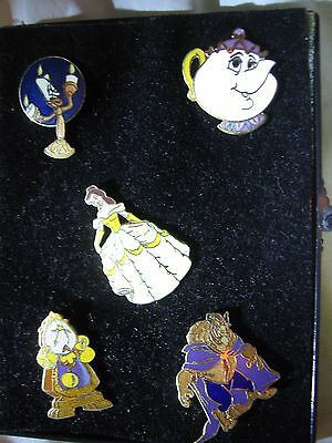Vintage Disney Beauty and The Beast Pins (5)