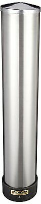 San Jamar C3400P 12-24 oz Stainless Steel Pull Type Beverage Cup Dispenser with