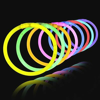 """8"""" Glow Light Sticks Bracelets 5 Colors Neon Glo Party Necklaces, party holiday"""