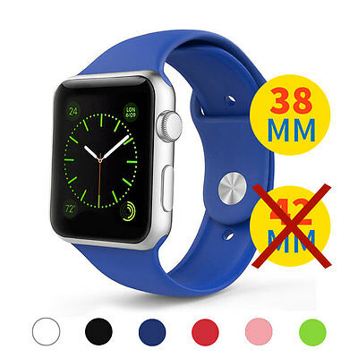 Correa Pulsera Repuesto para Apple iWatch Silicona 38mm Watch Recambio 2 TALLAS