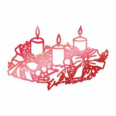 Couture Creations - LEDBC Collection Hotfoil Stamps - Wreathed Candles CO725525