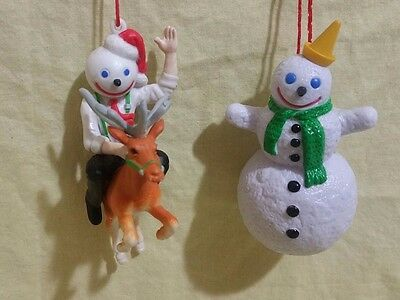 Lot of 2 Vintage JACK IN THE BOX RESTAURANT Christmas Ornaments