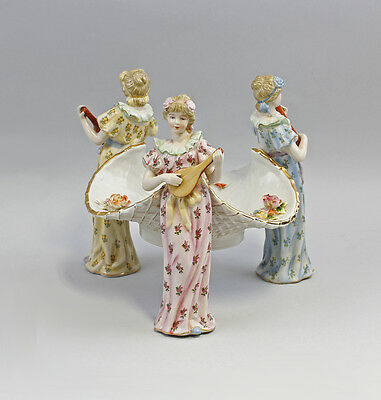 Table centerpiece with Dramatic Figures Gold edition Porcelain 9937611-dss