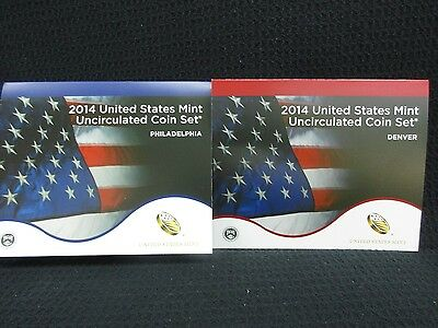 2014 United States Mint Uncirculated Coin Set 28 Coins Philadelphia & Denver