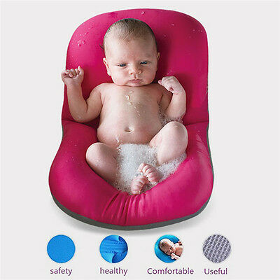 Bath Baby Pad Seat Newborn Toddler Kids Safety Security Support Mat Easy Bathing