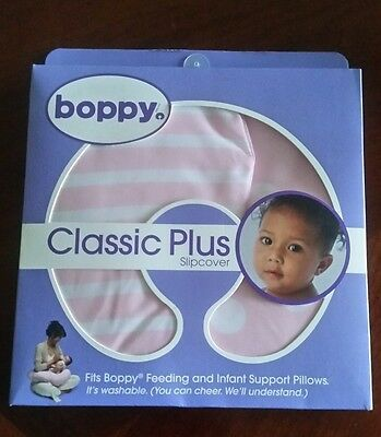 New Original Boppy Pillow Cover Slipcover Classic Pink Nursing Support