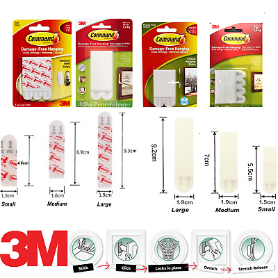 3M Strong Large Command Strip Mounting Poster Picture Frame Hanging Canvas Photo