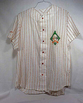 Vintage A & W Baseball Jersey Style Botton Front Shirt - NOS - Adult Large