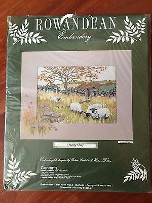 """EMBROIDERY KIT  """"GRAZING SHEEP"""" by ROWANDEAN"""