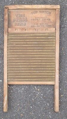 Vintage National Washboard -The Brass King # 801- Brass Inset