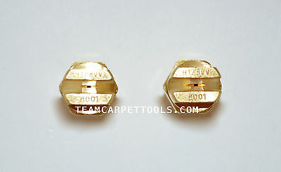 """Carpet Cleaning Wand Replacement Brass 1/8"""" V-Jets 8001 Vee Jets (2 count)"""