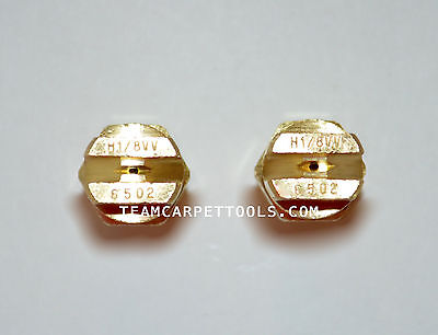 """Carpet Cleaning Wand Replacement Brass 1/8"""" V-Jets 6502 Vee Jets (2 count)"""