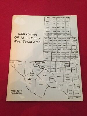 1880 Census Of 13-county West Texas Area Formerly Tom Green County