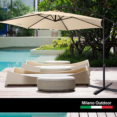3M Cantilever Outdoor UV Umbrella with BONUS Full Length Protective Cover