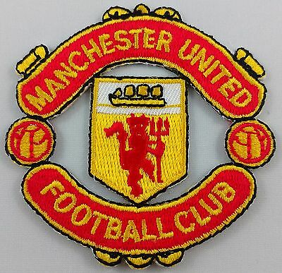 Manchester United Football Club Soccer Patch Badge Embroidered Iron On Applique