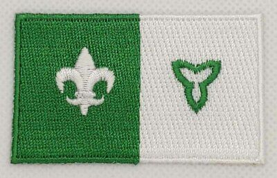 Franco Ontario Flag Patch Embroidered Iron On Applique