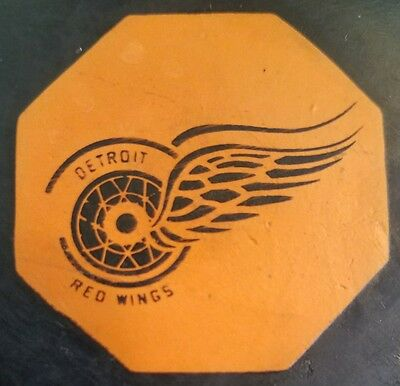 Vintage Original 6 Nhl Detroit Red Wings Art Ross Converse Game Used Puck Usa
