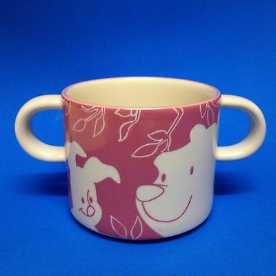 Royal Doulton Disney - Winnie the Pooh's PIGLET - Pink  2 Handled Toddler Cup -