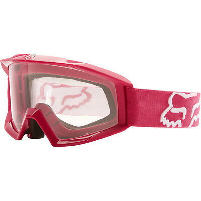 NEW Fox Racing MX Kids Main Race Pink Clear Lens Youth Girls Motocross Goggles