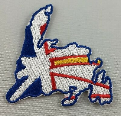 Newfoundland Map Patch Embroidered Iron On Applique