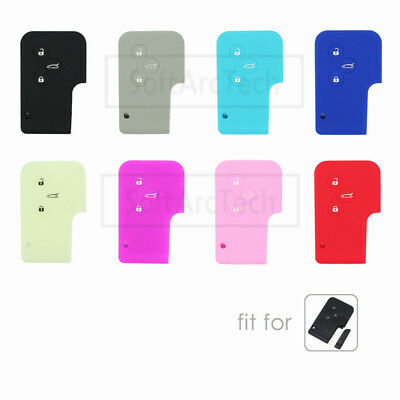 Silicone Cover fit for RENAULT Megane Scenic Remote Smart Card Key Case 3 Button