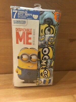 Boys Toddler Brief Underwear Despicable Me Minions Size 2T-3T