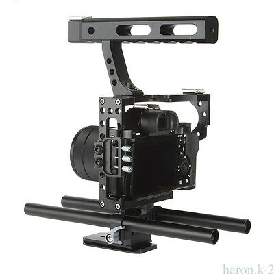 Mini Durable Rod Rig Professional Camera Video Cage & Handle Grip fits for Sony