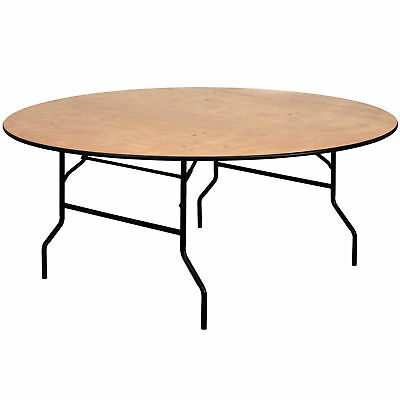 Flash Furniture 72'' Round Wood Folding Banquet Table