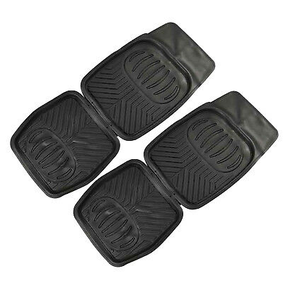 OZtrail Set of 2 Deep Dish PVC Car Vehicle Black Floor Mat Rear Mats New