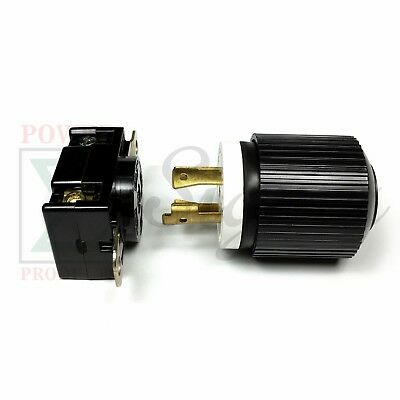 Generator RV AC Plug & Socket L14-30 30 AMP 120V 220V Male & Female Receptacle