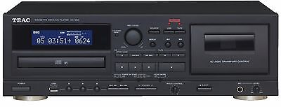 Teac Ad-850 Mount Plate Cassette Cd Player Combined Usb Black New Warranty