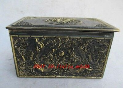 The  Chinese bronze dragon and phoenix. Jewelry box NR