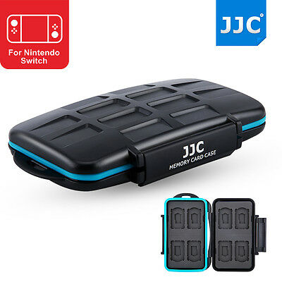 JJC Black Hard Memory Card Case for Nintendo Switch Game Card*8+Micro SD Card*8