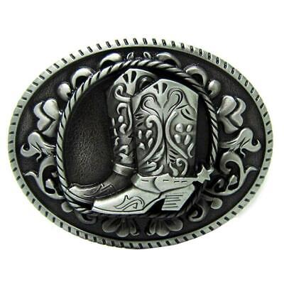 Antique Oval Alloy Belt Buckle Riding Boots Zinc Alloy Western Jewellery