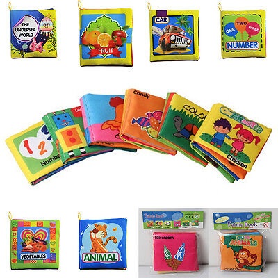 Intelligence Development Toy Toddler Child Baby Kids Educational Soft Cloth Book