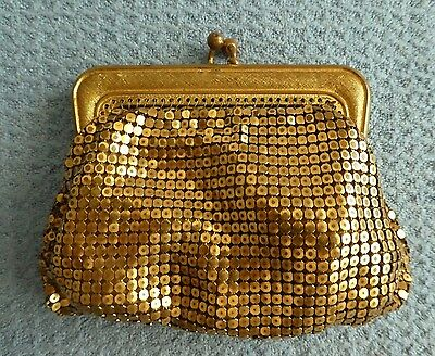 Vintage glow mesh coin purse evening bag clutch West Germany Oroton ladies