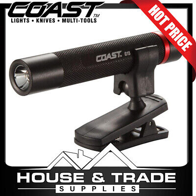 Coast LED Inspection Beam 65 Foot Range with Clip Torch Flashlight Penlight G15
