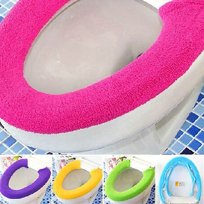 Practical Toilet Cover Seat Lid Pad Bathroom Protector Closestool Soft Warm Mat