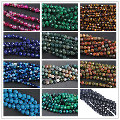 Wholesale Jade Natural Gemstone Stone Loose Spacer Beads 4/6/8/10mm Findings DIY