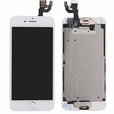 """For iPhone 6 4.7"""" LCD Display Touch Screen Digitizer + Home Button&Camera White"""