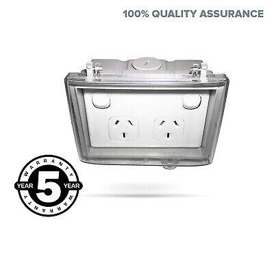 Power Point Weatherproof Socket DGPO Outlet Box CLEAR LID Weather Proof Outdoor