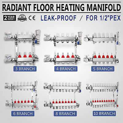 Underfloor Heating Manifolds 3-10 Port Heating System