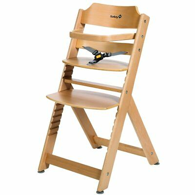Safety 1st High Chair Baby Feeding Adjustable Timba Basic Natural Wood 27980100
